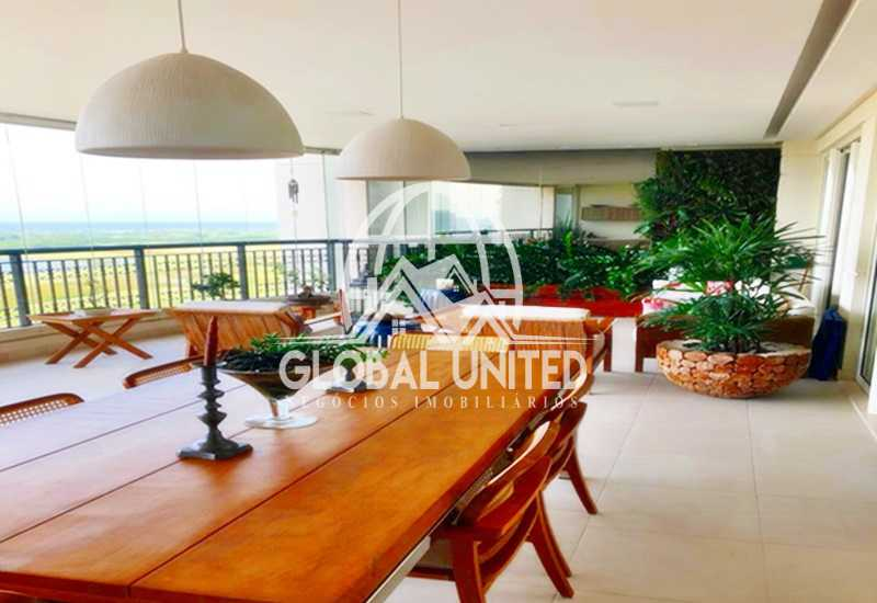 2 Varanda. - Apartamento Rio de Janeiro, Barra da Tijuca, RJ Para Venda e Aluguel, 4 Quartos, 435m² - REAP40019 - 3