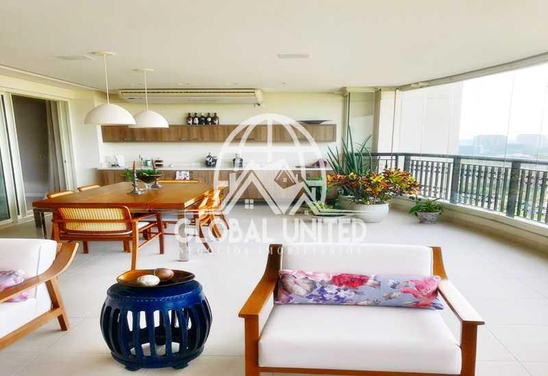 3 Varanda. - Apartamento Rio de Janeiro, Barra da Tijuca, RJ Para Venda e Aluguel, 4 Quartos, 435m² - REAP40019 - 4