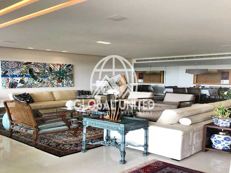 7 Sala de Estar. - Apartamento Rio de Janeiro, Barra da Tijuca, RJ Para Venda e Aluguel, 4 Quartos, 435m² - REAP40019 - 9