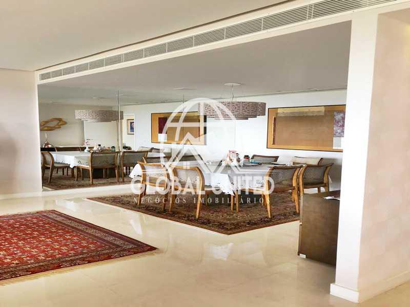 8 Sala de Jantar. - Apartamento Rio de Janeiro, Barra da Tijuca, RJ Para Venda e Aluguel, 4 Quartos, 435m² - REAP40019 - 10