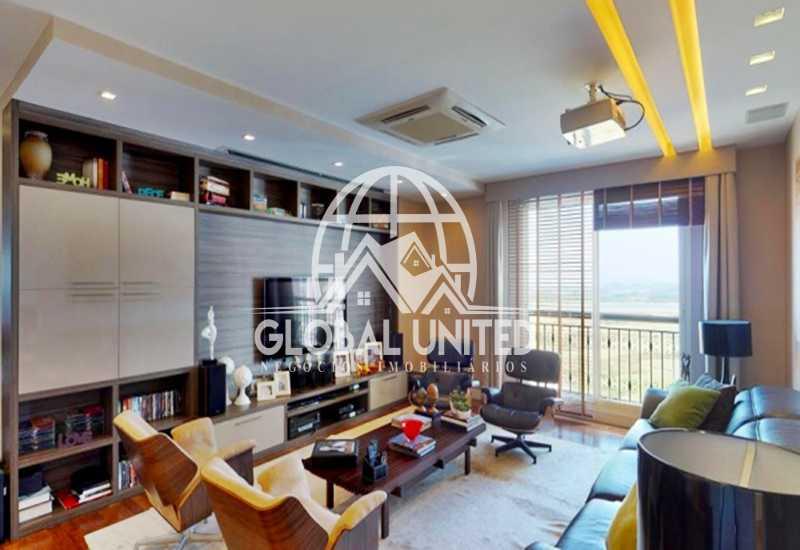 10 Sala de TV - Apartamento Rio de Janeiro, Barra da Tijuca, RJ Para Venda e Aluguel, 4 Quartos, 435m² - REAP40019 - 12