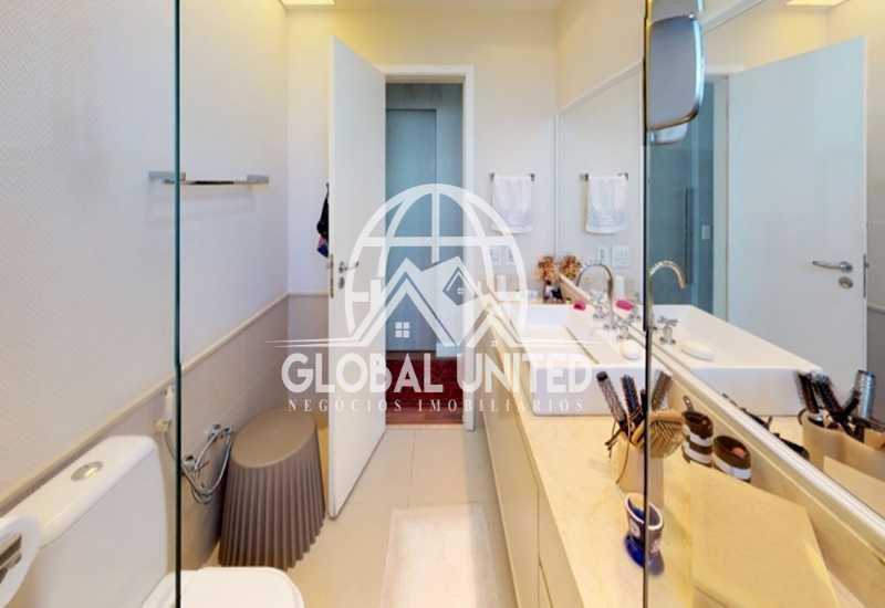 22 Banheiro Suite Master Dele - Apartamento Rio de Janeiro, Barra da Tijuca, RJ Para Venda e Aluguel, 4 Quartos, 435m² - REAP40019 - 24
