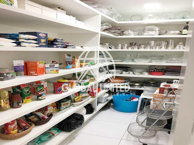 26 Despensa. - Apartamento Rio de Janeiro, Barra da Tijuca, RJ Para Venda e Aluguel, 4 Quartos, 435m² - REAP40019 - 28