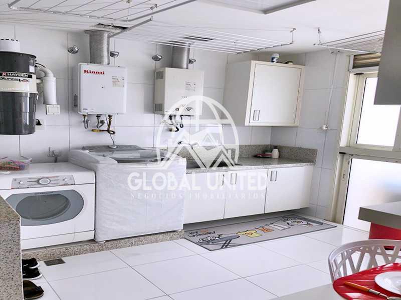27 Área de Serviço. - Apartamento Rio de Janeiro, Barra da Tijuca, RJ Para Venda e Aluguel, 4 Quartos, 435m² - REAP40019 - 29