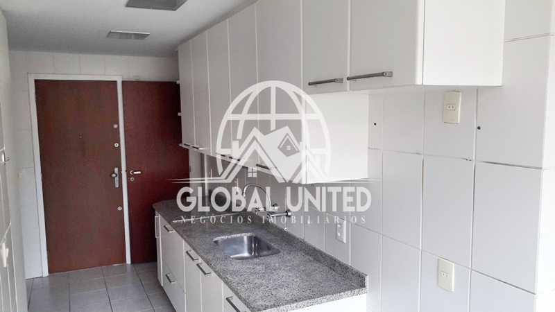 19 Cozinha - locação recreio frontal varandão 3qts 1st armários dependência - REAP30083 - 20