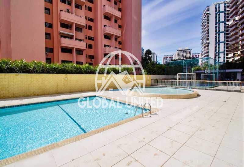 piscina - aluguel barra da tijuca condomínio barra sol 2qts andar alto infraestrutura - REAP20185 - 3