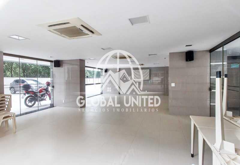 salão de festas - aluguel barra da tijuca condomínio barra sol 2qts andar alto infraestrutura - REAP20185 - 7