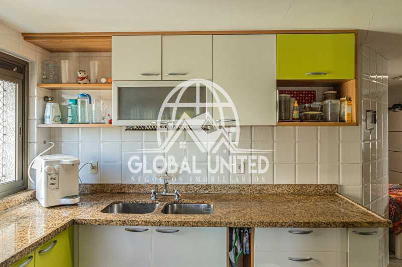 Cozinha , Mundo novo, Barra da - VENDA BARRA DA TIJUCA MUNDO NOVO 3QTS 1ST ANDAR ALTO VISTÃO ARMÁRIOS 2VGS - REAP30091 - 18