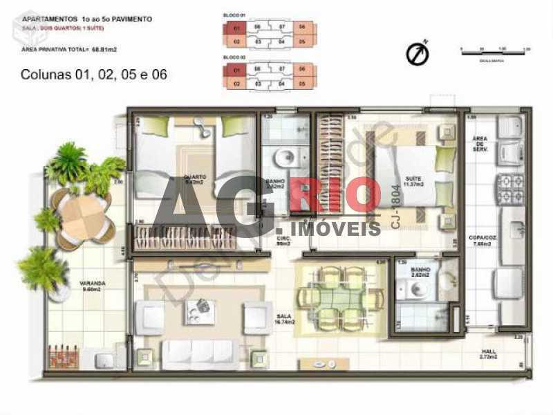 foto - Apartamento Rio de Janeiro,Freguesia (Jacarepaguá),RJ À Venda,2 Quartos,70m² - VVAP20035 - 3