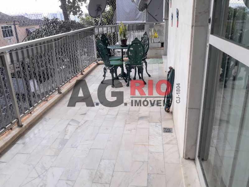 33.varanda.1 - Apartamento 3 quartos à venda Rio de Janeiro,RJ - R$ 380.000 - VVAP30136 - 1