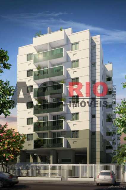 1-Fachada-Village-Caribe-2-Res - Apartamento 2 quartos para alugar Rio de Janeiro,RJ - R$ 750 - TQAP20601 - 1