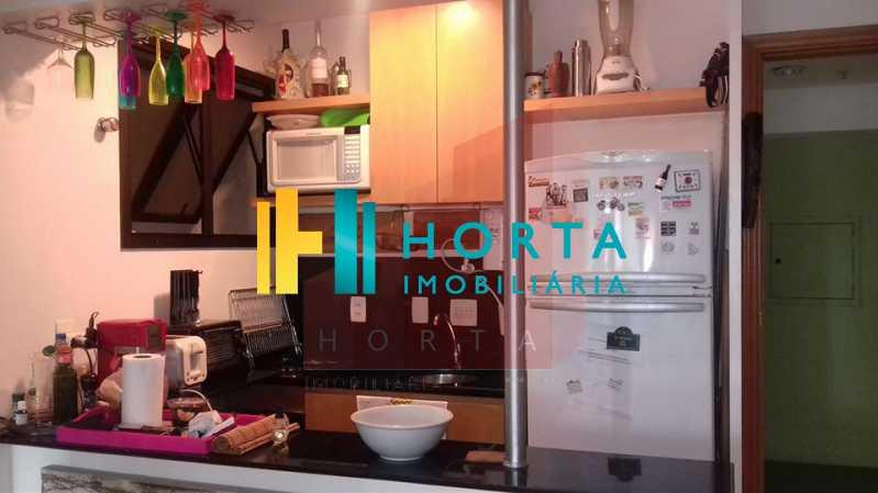 cozinha 3 - Excelente Flat em Ipanema localizado entre a Praia e a Lagoa. Imóvel composto de sala e quarto, banheiro social, cozinha americana, varanda, vaga na escritura, serviço de quarto. Serviço de lavanderia, academia, piscina, sauna, sala de tv, área de convivê - CPFL10005 - 17