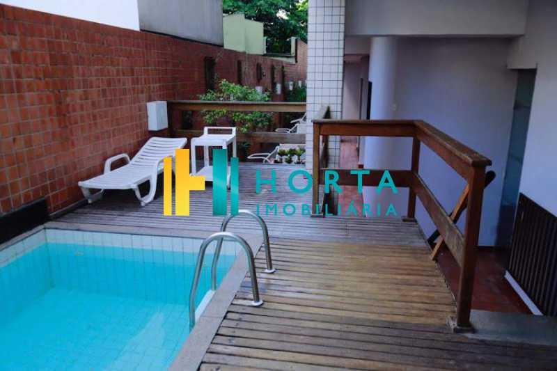 piscina 3 - Excelente Flat em Ipanema localizado entre a Praia e a Lagoa. Imóvel composto de sala e quarto, banheiro social, cozinha americana, varanda, vaga na escritura, serviço de quarto. Serviço de lavanderia, academia, piscina, sauna, sala de tv, área de convivê - CPFL10005 - 23