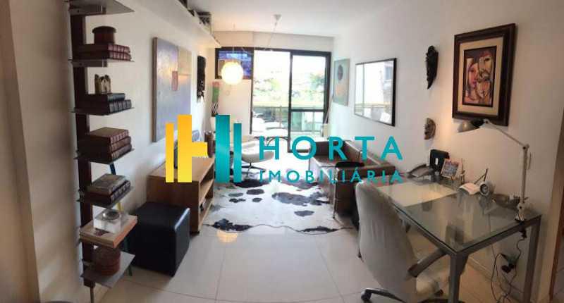sala - Excelente Flat em Ipanema localizado entre a Praia e a Lagoa. Imóvel composto de sala e quarto, banheiro social, cozinha americana, varanda, vaga na escritura, serviço de quarto. Serviço de lavanderia, academia, piscina, sauna, sala de tv, área de convivê - CPFL10005 - 1