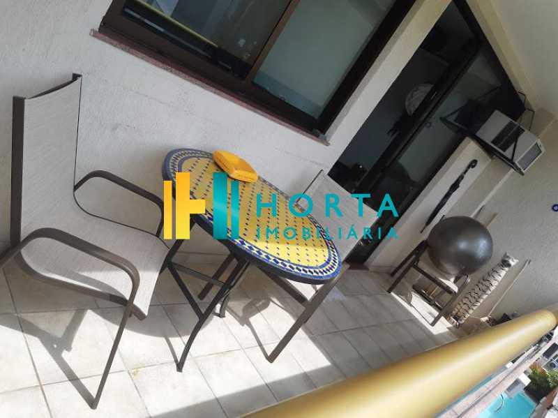 varanda 3 - Excelente Flat em Ipanema localizado entre a Praia e a Lagoa. Imóvel composto de sala e quarto, banheiro social, cozinha americana, varanda, vaga na escritura, serviço de quarto. Serviço de lavanderia, academia, piscina, sauna, sala de tv, área de convivê - CPFL10005 - 11