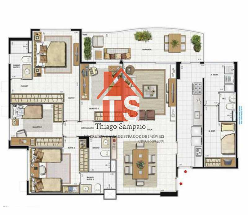 planta imóvel - Apartamento à venda Avenida Eixo Metropolitano Este-Oeste,Barra da Tijuca, Rio de Janeiro - R$ 1.150.000 - TSAP40013 - 15