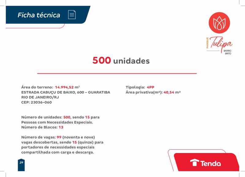 Book Parque Tulipa_Ajustado 1_ - LANÇAMENTO TENDA - EXCELENTE APARTAMENTO DE 1 OU DOIS QUARTOS EM GUARATIBA. - SIAP20116 - 15