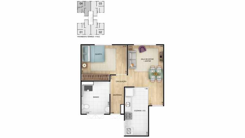 br-tda-vila-verde-ptipo-pne-00 - Apartamento de 2 quartos para venda dentro do programa minha casa minha vida. - PMAP20118 - 8