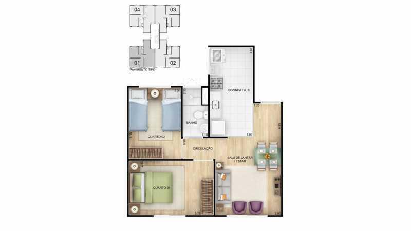 hr-tda-vila-verde-ptipo-2-dorm - Apartamento de 2 quartos para venda dentro do programa minha casa minha vida. - PMAP20118 - 9