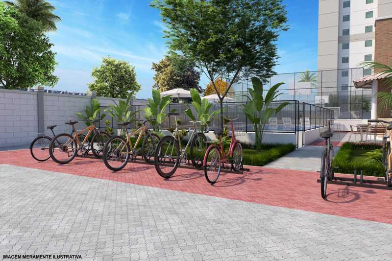Bicicletario_Final - LANÇAMENTO EM NOVA IGUAÇU, APARTAMENTO DE DOIS QUARTOS - RESIDENCIAL ITÁLIA - PMAP20089 - 11