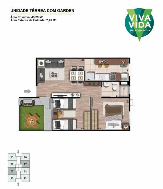 420-01-IMG-UN-F001-PLA-GER-01- - Apartamentos de 2 quartos - Entrada facilitada em BElford roxo - PMAP20092 - 9