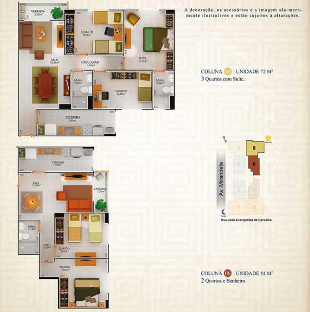 APARTAMENTO-COLUNA-8-COLUNA-6- - Lindo 3 quartos com suite no Centro de Nilópolis - NOVO !!! - PMAP30041 - 6