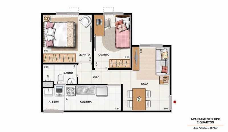 0001 11 - Excelente Apartamento em Nova Iguaçu para VENDA!!!! - SIAP20033 - 6