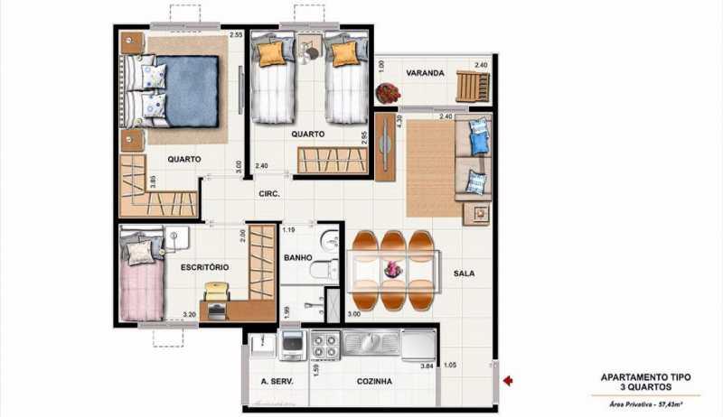 0001 9 - Excelente Apartamento em Nova Iguaçu para VENDA!!!! - SIAP20033 - 8