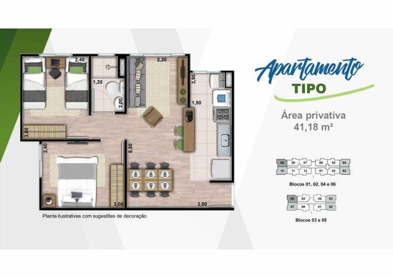 Apartamento 1 - Excelente apartamento em Belford Roxo - Viva Vida Naturale!! - SIAP20034 - 19