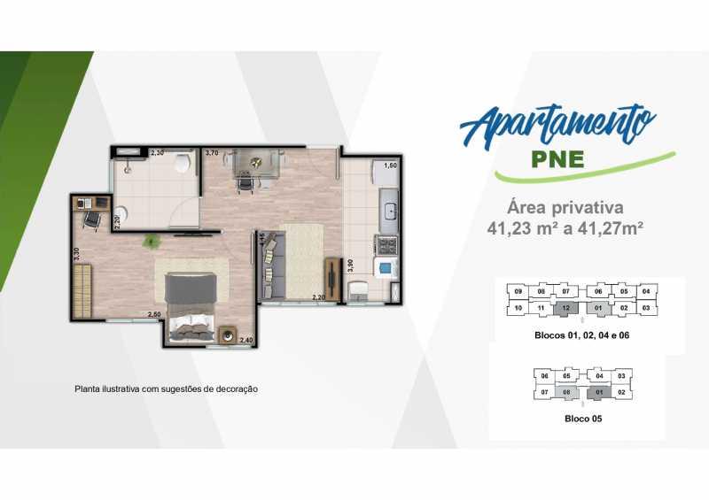 Planta PNE - Excelente apartamento em Belford Roxo - Viva Vida Naturale!! - SIAP20034 - 20