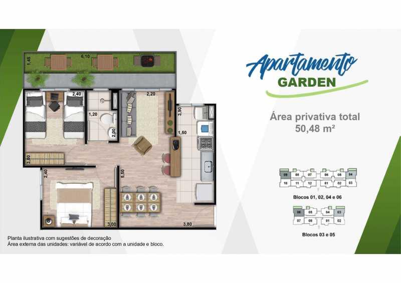 Planta Garden - Excelente apartamento em Belford Roxo - Viva Vida Naturale!! - SIAP20034 - 21