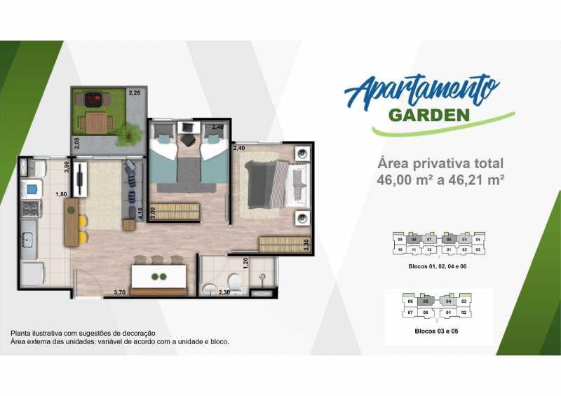 Planta Garden 2 - Excelente apartamento em Belford Roxo - Viva Vida Naturale!! - SIAP20034 - 22
