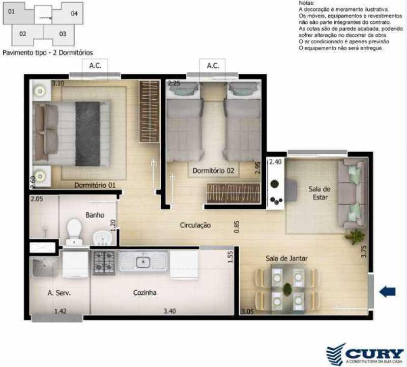 Plantas 1 - Excelente Apartamento para Venda - Completo Piedade! - SIAP20038 - 12