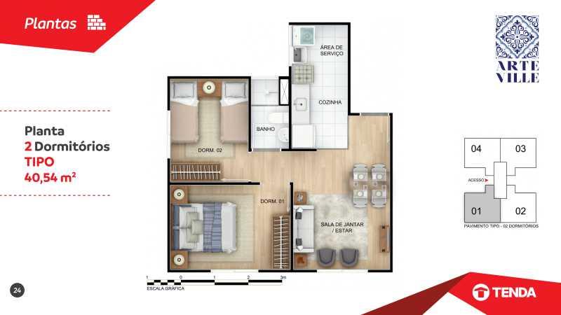Arte_Ville_page-0024 - Apartamento de 2 quartos em Cascadura para venda. - SIAP20043 - 6