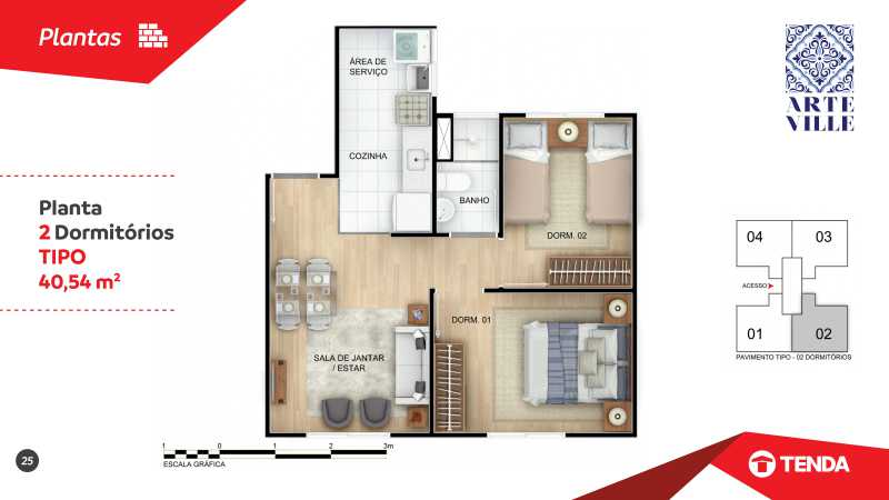 Arte_Ville_page-0025 - Apartamento de 2 quartos em Cascadura para venda. - SIAP20043 - 7