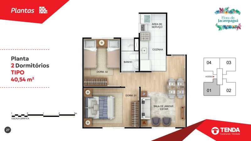 Flora Jacarepagua_page-0027 - Apartamento 2 quartos em Jacarepaguá para Venda - SIAP20047 - 13