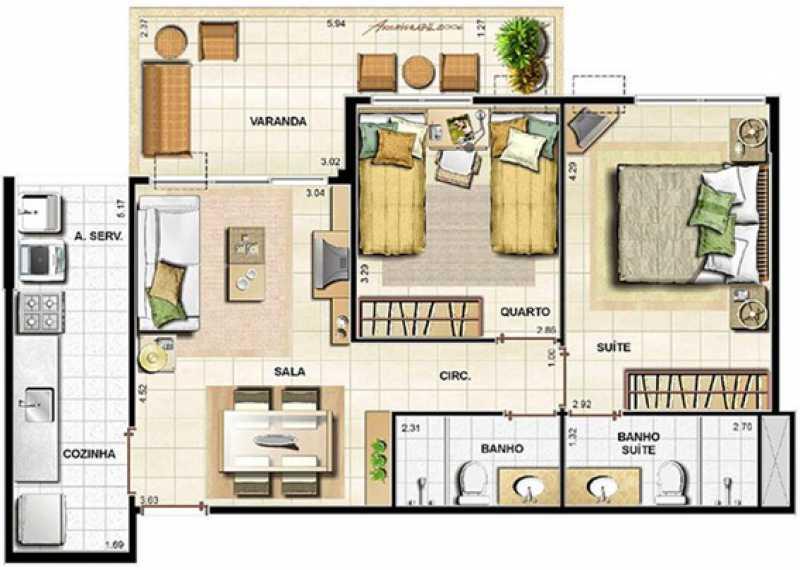 WhatsApp Image 2020-02-11 at 1 - Apartamento 2 quartos à venda Recreio dos Bandeirantes, Rio de Janeiro - R$ 499.000 - SVAP20358 - 17
