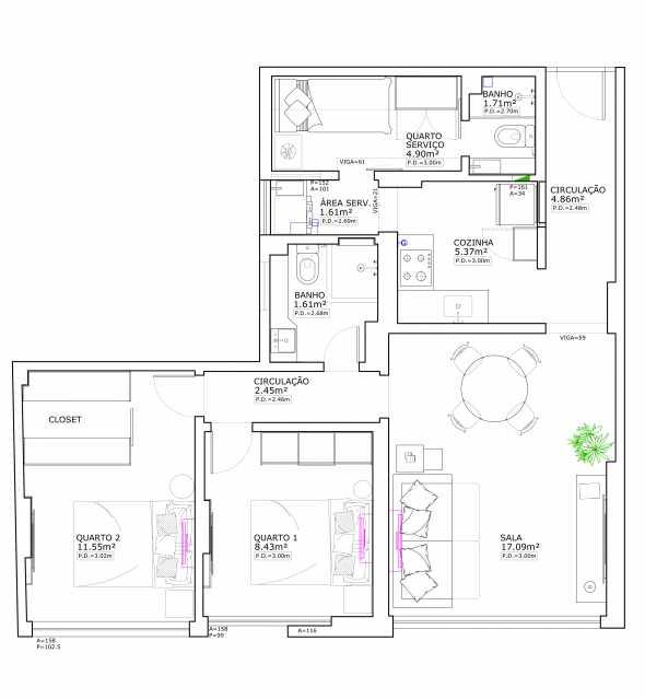7ccad2e5fc36c425-PLANTA 1 - Apartamento 2 quartos à venda Copacabana, Rio de Janeiro - R$ 848.900 - SVAP20508 - 19