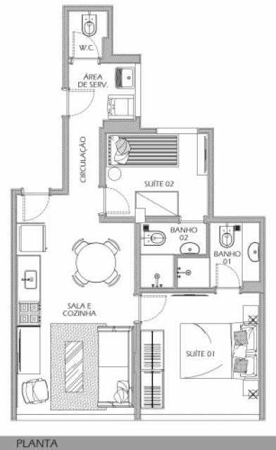 fotos-15 - Apartamento 2 quartos à venda Botafogo, Rio de Janeiro - R$ 598.900 - SVAP20534 - 13