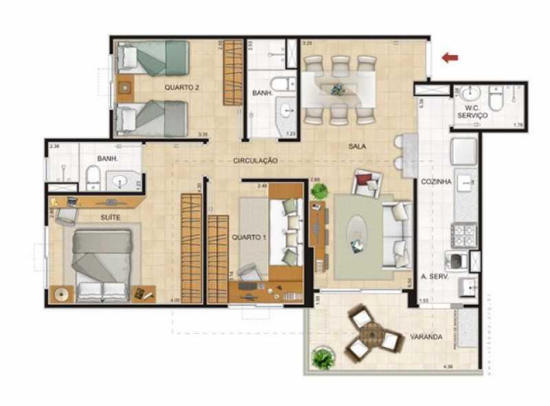 7 - Apartamento 3 quartos à venda Recreio dos Bandeirantes, Rio de Janeiro - R$ 530.000 - SVAP30268 - 8
