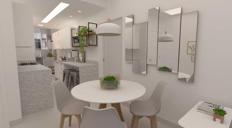 840ee9d43283aded-sala e cozinh - Apartamento 2 quartos à venda Copacabana, Rio de Janeiro - R$ 748.900 - SVAP20583 - 1