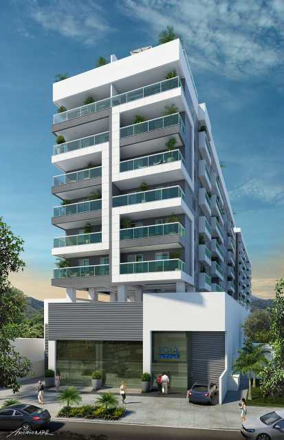 Fachada Frontal - Apartamento 2 quartos à venda Pechincha, Rio de Janeiro - R$ 329.000 - SVAP20120 - 1