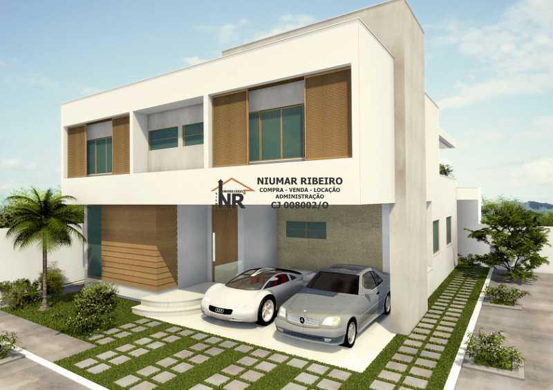 Frente - Casa em Condomínio 5 quartos à venda Freguesia (Jacarepaguá), Rio de Janeiro - R$ 980.000 - NR00161 - 1