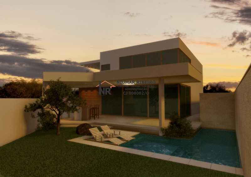 Fundos - Casa em Condomínio 5 quartos à venda Freguesia (Jacarepaguá), Rio de Janeiro - R$ 980.000 - NR00161 - 3