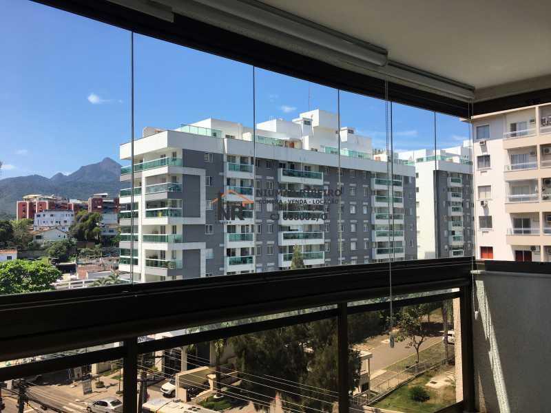 3 - Sacada - Apartamento 3 quartos à venda Pechincha, Rio de Janeiro - R$ 395.000 - NR00182 - 1