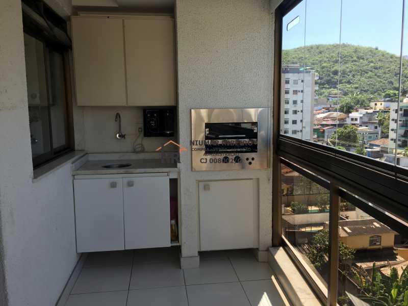 4 - Sacada - Churrasqueira - Apartamento 3 quartos à venda Pechincha, Rio de Janeiro - R$ 395.000 - NR00182 - 3