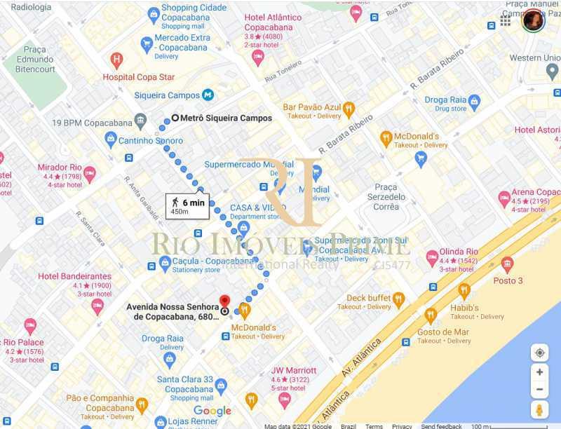 DISTANCIA METRO - Fachada - Shopping 680 & Edifício Central Copacabana - 168 - 5
