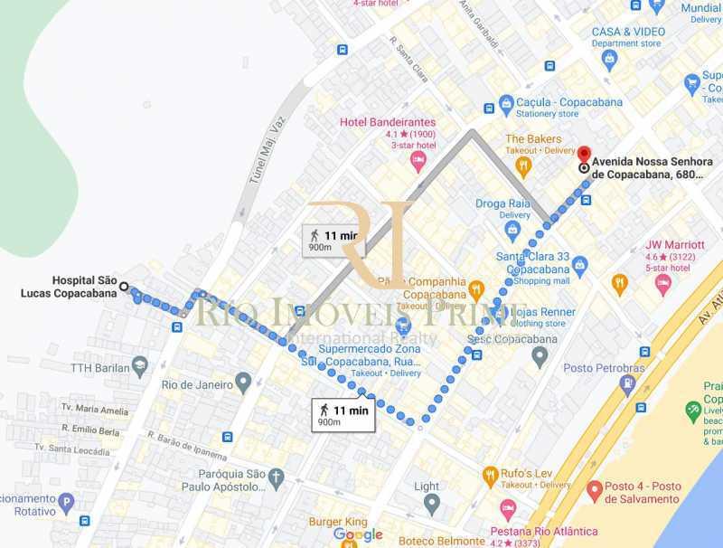 DISTANCIA HOSPITAL SAO LUCAS - Fachada - Shopping 680 & Edifício Central Copacabana - 168 - 8