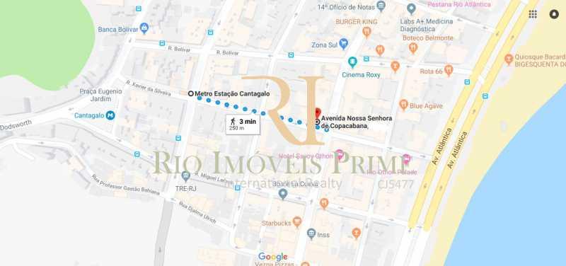 DISTÂNCIA METRÔ - Apartamento à venda Avenida Nossa Senhora de Copacabana,Copacabana, Rio de Janeiro - R$ 1.300.000 - RPAP30043 - 21