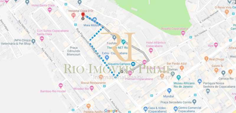 DISTÂNCIA METRÔ - Apartamento à venda Rua Siqueira Campos,Copacabana, Rio de Janeiro - R$ 749.900 - RPAP30056 - 21